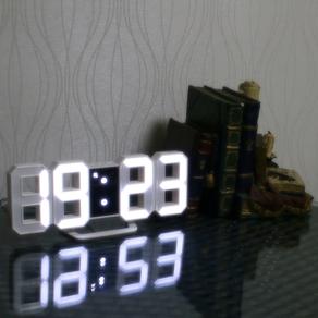밀리언컴퍼니 3D LED 탁상 알람시계, white